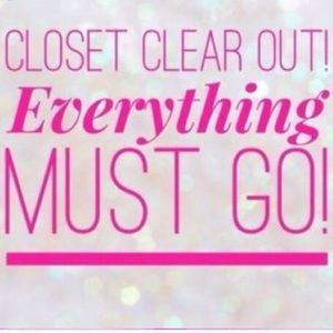 Closet clear out!!!! All items must go!!!
